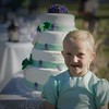 I talked her into standing in front of the cake for me   I wanted to show the matching colors