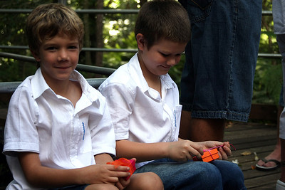 Caelan and Lachlan Williams.  Natarsha and Ryans Wedding, Brisbane, Australia, December 2007. Raven Street Reserve at McDowall. Photography by Trent Williams.