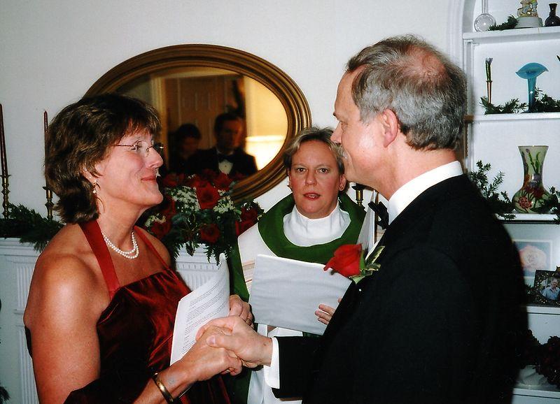 Tom speaking vows