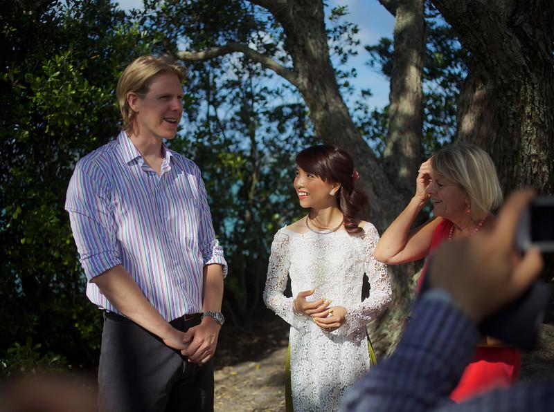 The wedding of Sam and Ha at Devonport.