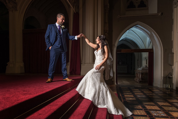 Samantha & Rob at Stanbrook Abbey in Worcestershire