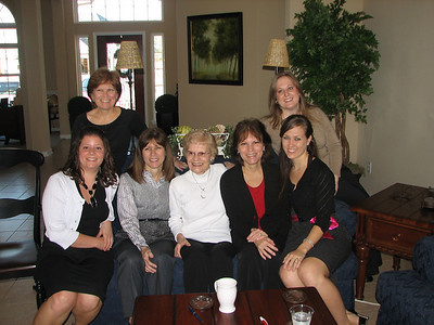 Family photo 1: Left to right:  Samantha, Suzie, Donna, Lucille, Judy, Kimberly, and Joanna.