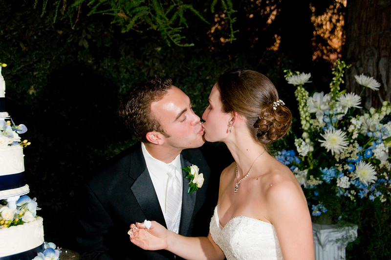 Frosting on the face - makes the kiss even sweeter!