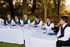 Part of the head banquet table (I loved the picturesque location).  Hundreds of candid shots are taken of friends and family as the guests eat, mingle and party.  Although you will likely only print a few of these for your own album, your guests and bridal party will be able to print their own memories from this website.  The photos are included on the DVD of photos presented as part of every package.