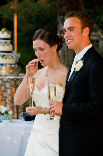 The Toast.  Tears of joy.  Always a special and tender moment when loved ones share stories and pass on their blessings on your new life together.