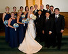 After the Ceremony - formal poses with bridal party and families