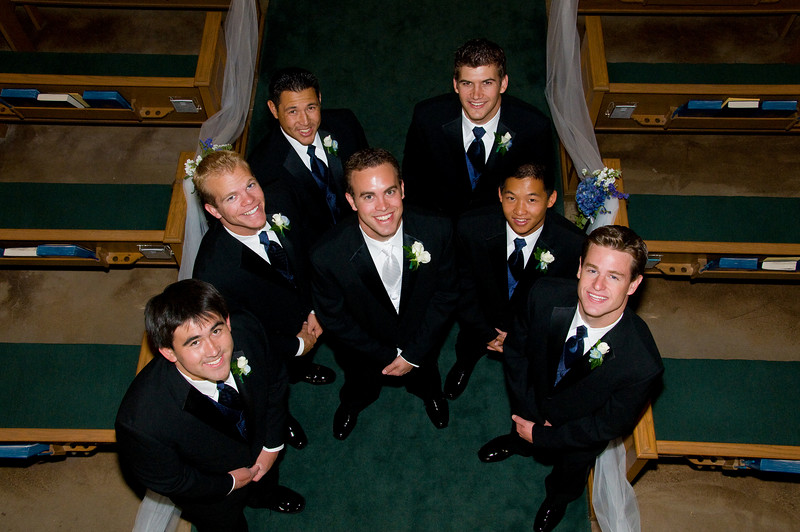 Groomsmen - in a little more formal pose before the ceremony.  Amazing how well guys can clean up when they want to impress their ladies.