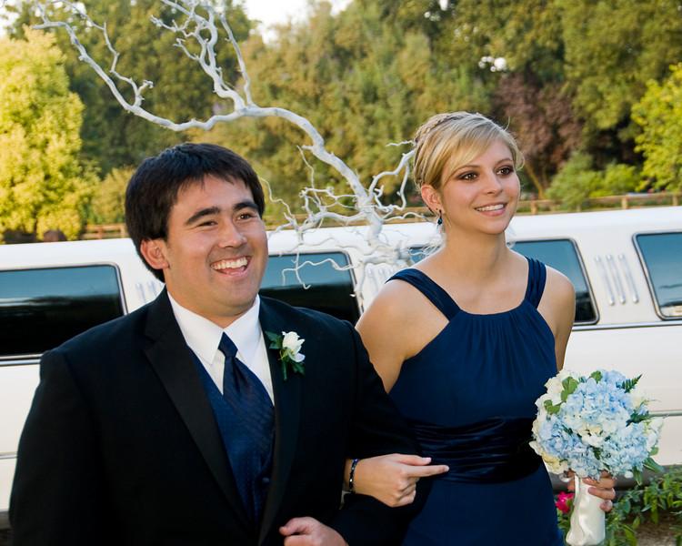 Bridal party entering the reception