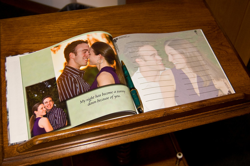 This is a 20 page guest book which incorporated 60 photos from the engagement photo session.