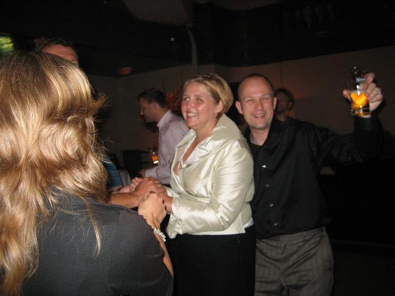 Caroline and Sander at the party