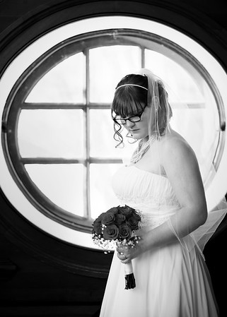 BW Posed Wedding