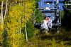 Sarah Ekstrom and Brandon Bivans wedding at Crested Butte Mountain Resort on Friday, Sept. 18, 2015.  (Photo/Nathan Bilow)