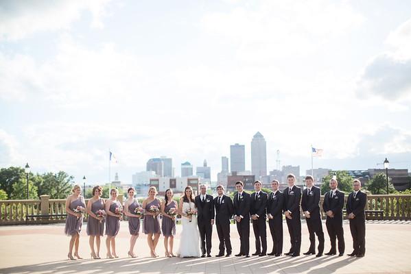Bridal Party Capital Steps & Siblings