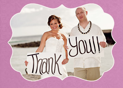 Scott and Bethany's Thank You Card Gallery