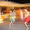 Wedding dancers getting down.