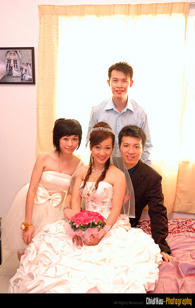 The couples with the best man and bride maid. :)