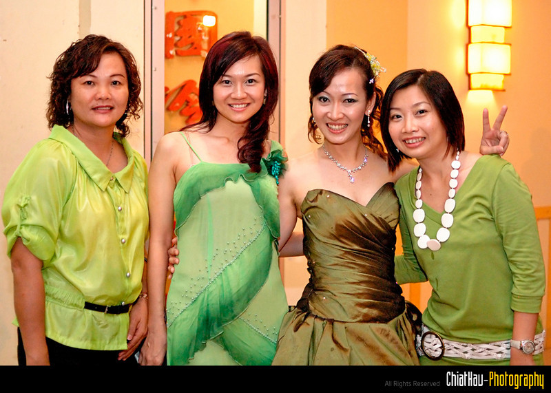 Lady in Green! it is just coincidence that all 4 of them are in green though. :)