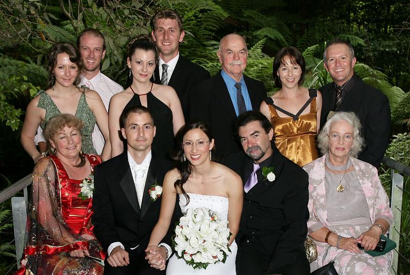 The Groom's immediate relatives.