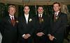 Simon, Shane, Luke and Ian waiting for the girls to make their entrance.