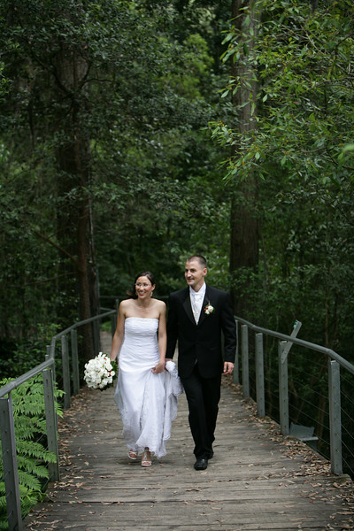 The location for the ceremony was deep in the rainforest in the Jamieson Valley.