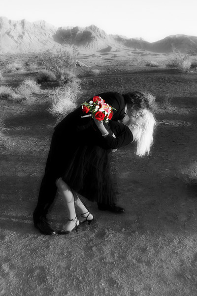 Photo taken by Always & Forever Wedding Chapel in Las Vegas.  Pictures of You provided selective color editing and glow effect only.