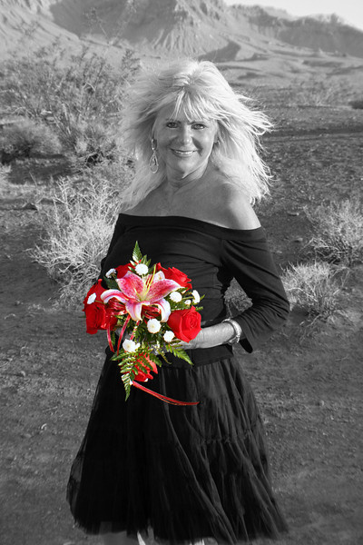 Photo taken by Always & Forever Wedding Chapel in Las Vegas.  Pictures of You provided selective color editing only.