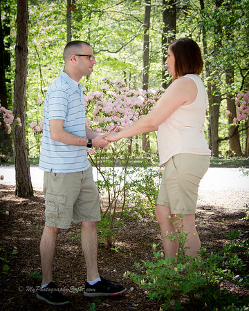 The Roeblings at the Azalea Garden for  their engagement photography