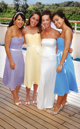 The bride and bride's maids.  From left to right - Sam Ascher, Tay Loser, Kim Loser(now Siharaj,) and Nakea Loser
