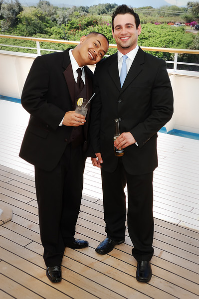Mick Siharaj (Groom) and Nick Northrup (Best man) shortly before the wedding.