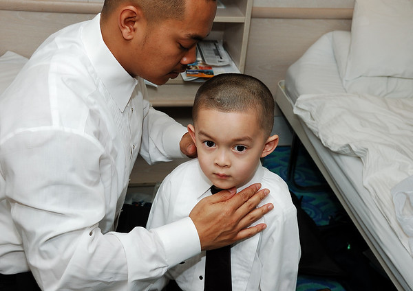 Mick and Dominick getting ready for the wedding