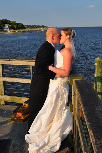 Southport, North Carolina  is one of the best places in the state to get married.  Bryce Lafoon Photography captures a bride and groom just after there wedding at the Southport Community Center.