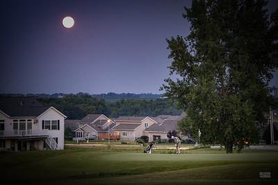 Golfing under the Buck Moon