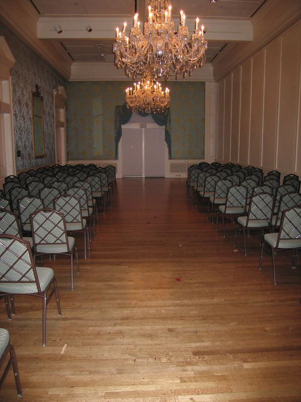 What room looked like 5 and a half minutes after the ceremony started