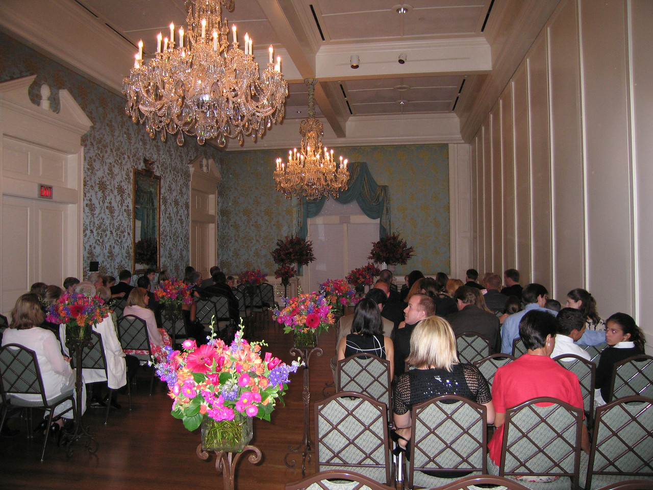 The room in which the ceremony took place