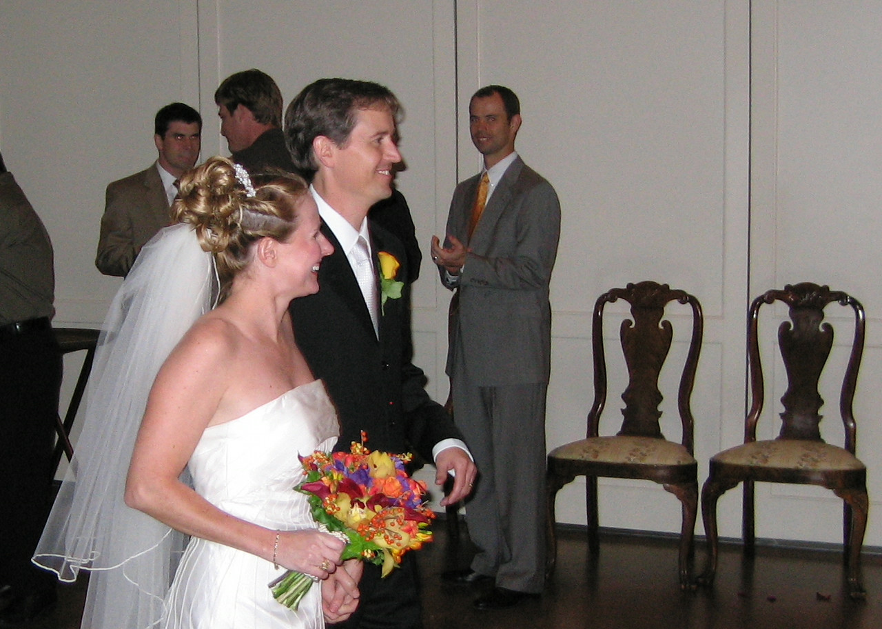 Chris and Heather make their entrance