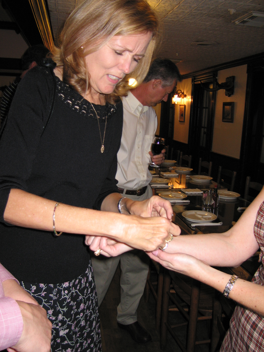 Heather gets a bracelet from Mary
