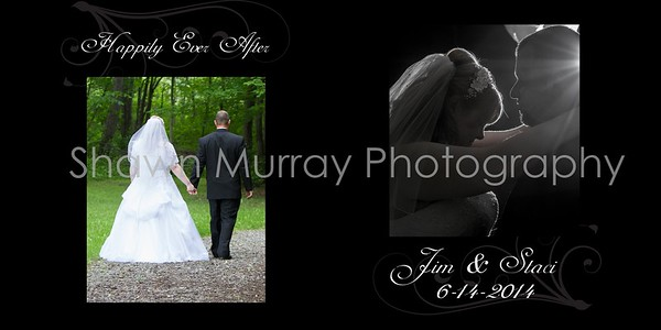 Staci & Jim Wedding Album 7-6 001 (Cover 1)