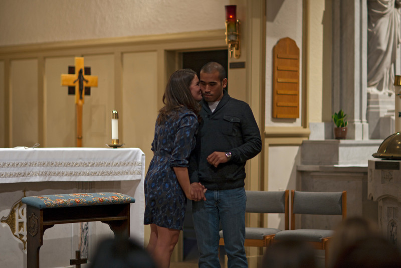 Stacy Plucinski's and Aaron Obispo's wedding rehearsal.