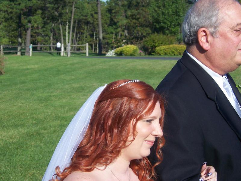 She's a beautiful bride.
