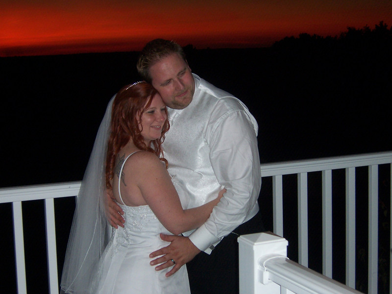 Another shot of the happy couple after a long but wonderful day.