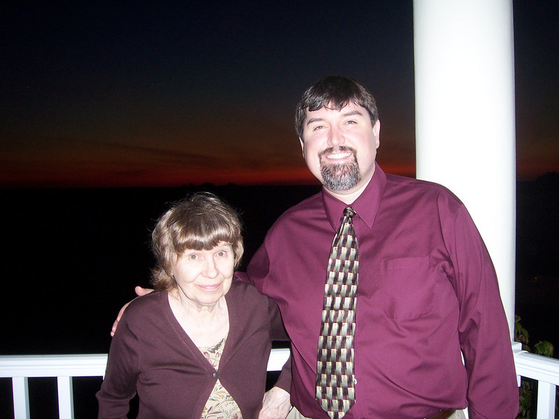 George and his mom, also enjoying the wonderful evening.
