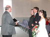 Pastor, Groom, Father, and Bride