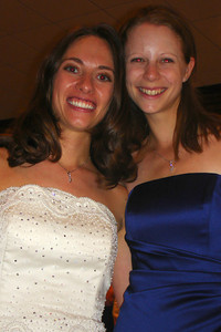 Emily and Steph enjoying the reception - Chicago, IL ... July 29, 2007 ... Photo by Rob Page III