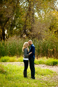 Stephanie & Lamont's mini engagement session at McKay Lake in Westminster, Colorado. Photos by Lindsay J. C. Lack