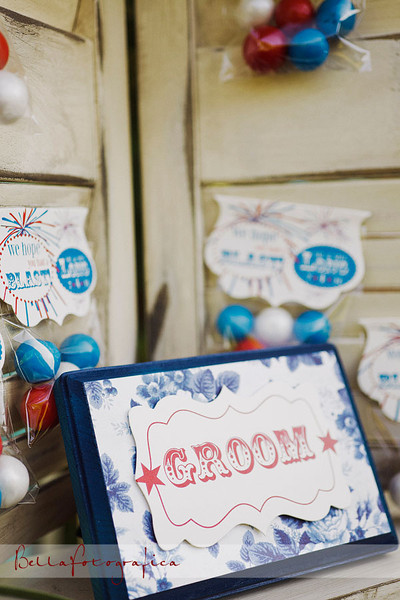 An American Wedding beautifully styled in red white and blue.