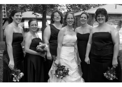 bridesmaids bw 5x7