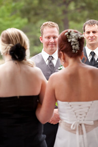 Knowing what was important to MY bride, I like to catch the groom's reaction to the bride walking down the aisle.