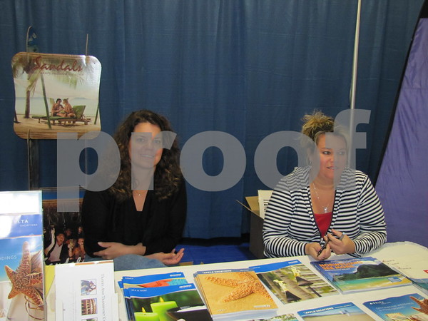 Heather Rude and Staci Miller of Travel and Transport.
