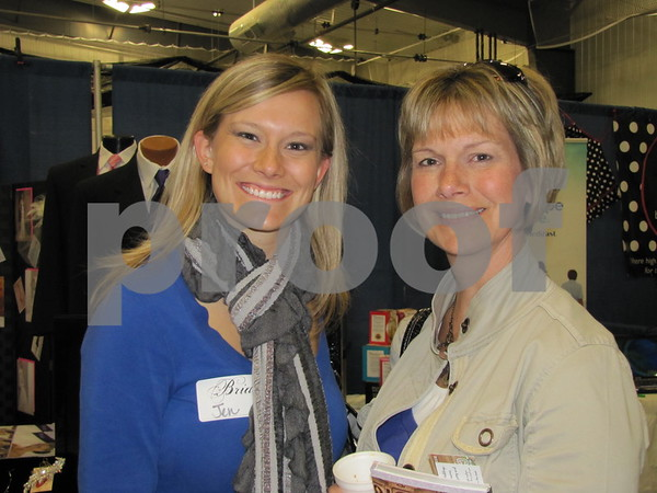 Bride-to-be Jennifer Vande Zande with her mother, Jeannie Vande Zande, attended The Messenger's Bridal Show held at the Career Ed building on the ICCC campus.