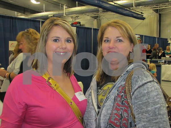 Jessica Stanberg, bride-to-be, and her mother Terri Stanberg attended The Messenger's Bridal Show.